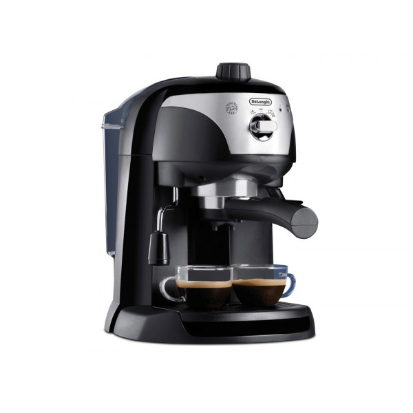 Cafetera Express DeLonghi EC 221.CD Independiente Máquina espresso Negro, Plata, Transparente 1 L Manual