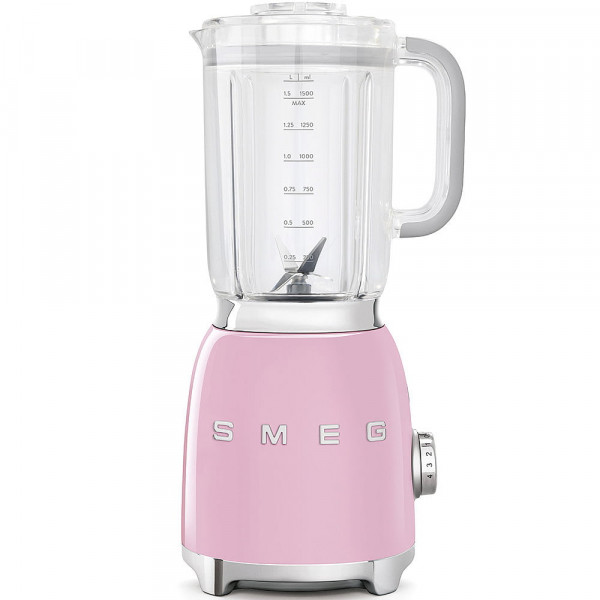 Batidora de vaso - Smeg BLF01PKEU Licuadora 1.5L 800W Rosa