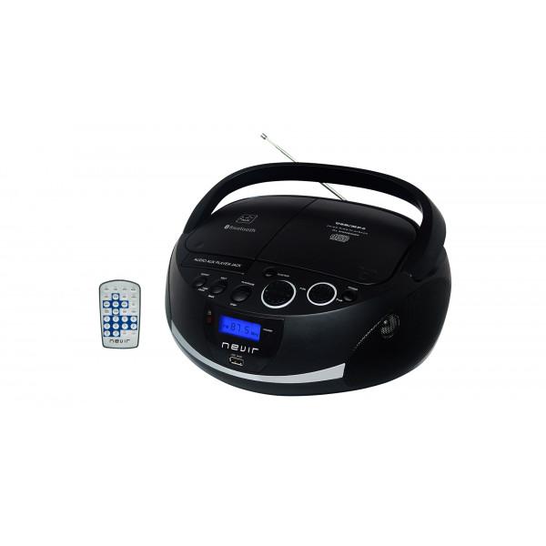 Comprar Radio-CD bluetooth - Nevir -NVR-480UB NEGRO - portátil ... 2932522c054