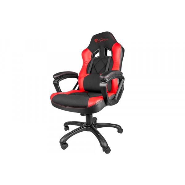 Silla Gaming - GENESIS SX33 Silla para videojuegos de PC Asiento acolchado Negro, Rojo