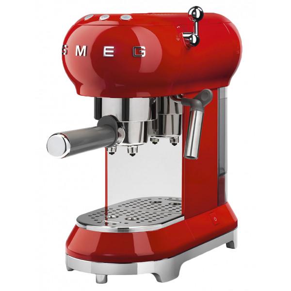 Smeg ECF01RDEU Independiente Semi-automática Máquina espresso 1L 2tazas Cromo, Rojo cafetera eléctrica