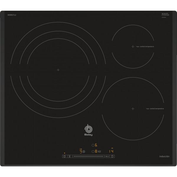 Placa de Inducción - Balay 3EB967LU hobs Negro Integrado Con placa de inducción 3 zona(s)