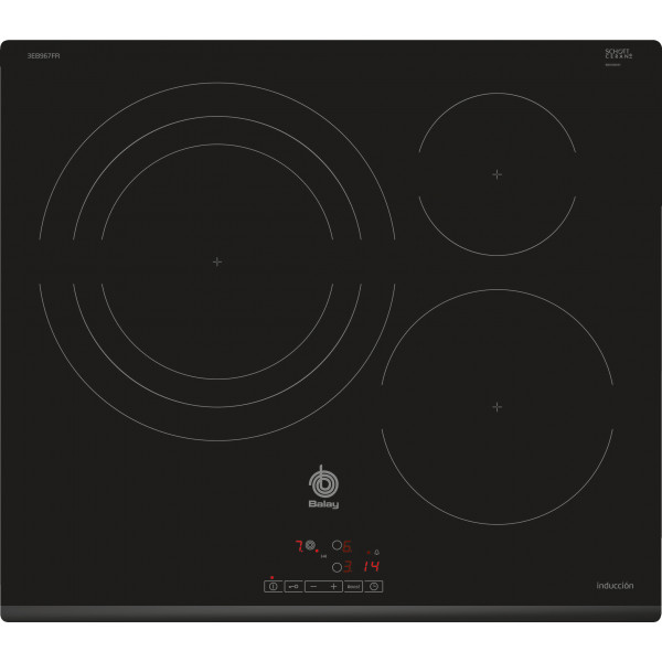 Placa de Inducción - Balay 3EB967FR Integrado Induction hob Negro hobs