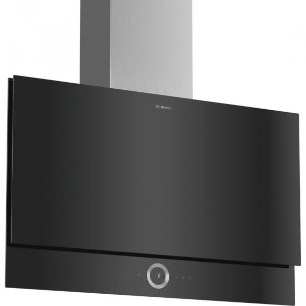 Campana - Bosch Serie 8 DWF97RV60 Wall-mounted cooker hood 730m³/h A Negro, Acero inoxidable