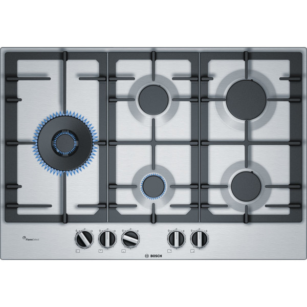 Placa de Gas - Bosch Serie 6 PCS7A5B90 Integrado Encimera de gas Acero inoxidable hobs