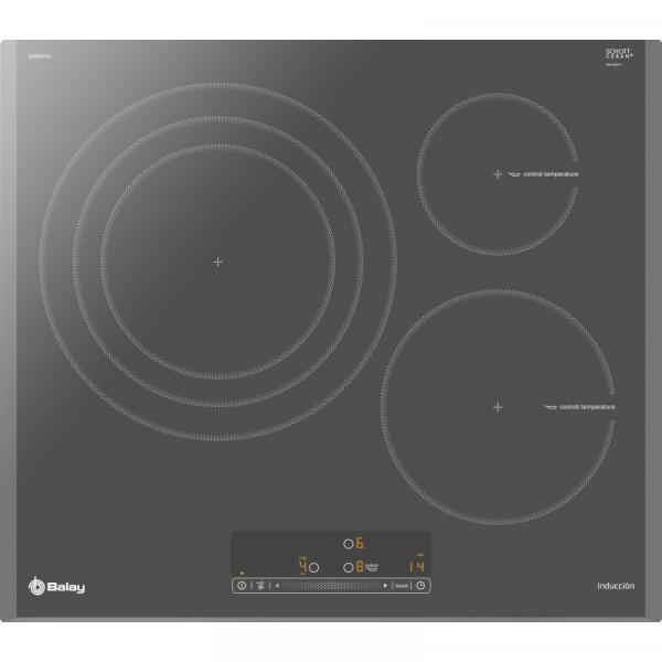 Placa de Inducción - Balay 3EB967AU hobs Titanio Integrado Con placa de inducción 3 zona(s)