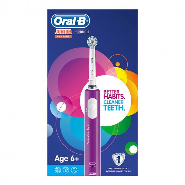 Cepillo dental eléctrico - Oral-B Junior 6+ Child Púrpura, Blanco