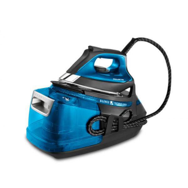 Centro de Planchado - Rowenta Silence Steam Pro 2800W 1.3L Microsteam 400 soleplate Negro, Azul