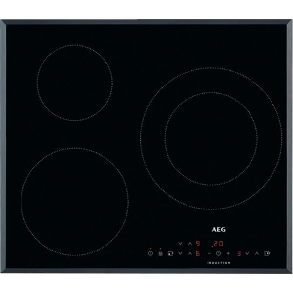 Placa de Inducción - AEG IKB6330SFB hobs Negro, Acero inoxidable Integrado 60 cm Con placa de inducción 3 zona(s)