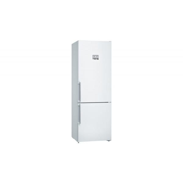 Frigorífico combi - Bosch Serie 6 KGN49AWEP nevera y congelador Independiente 435 L Blanco