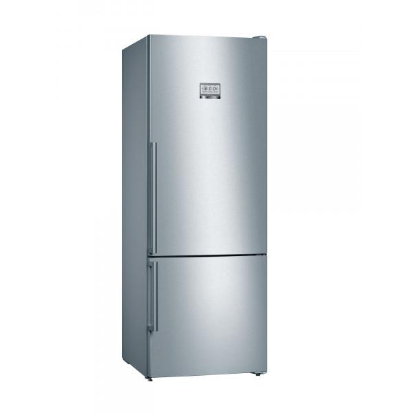 Frigorífico combi - Bosch Serie 8 KGF56PIDP nevera y congelador Independiente 483 L D Acero inoxidable