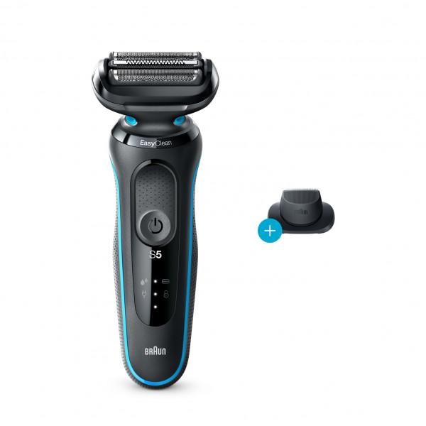 Afeitadora - Braun Series 5 50-M1200S Máquina de afeitar de láminas Recortadora Negro, Azul