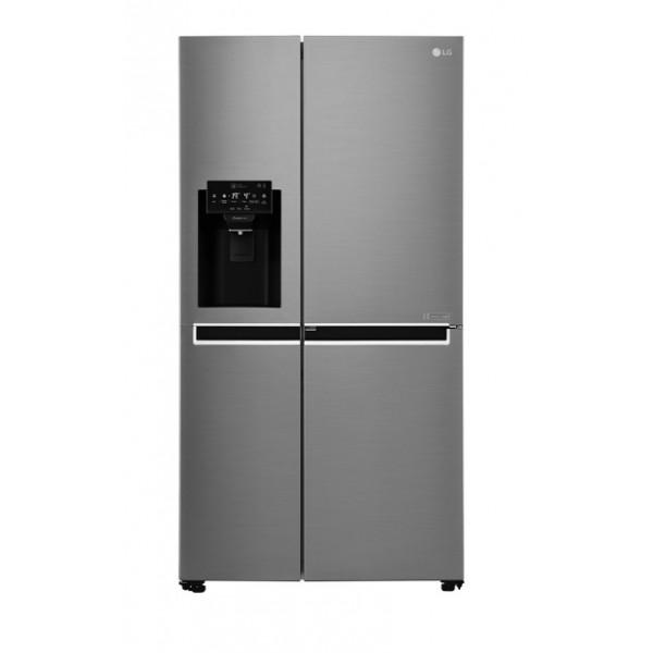 Frigorífico americano - LG GSJ760PZXV Built-in/Freestanding 601L A+ Acero inoxidable nevera puerta lado a lado