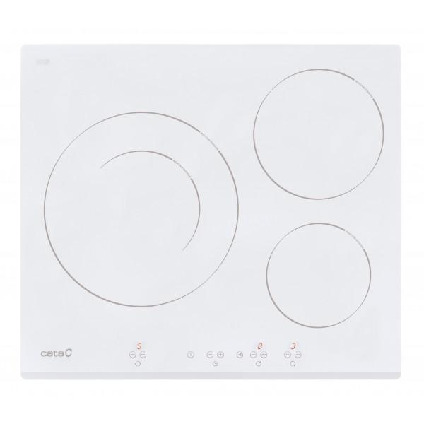Placa de Inducción - CATA IB 6030 WH Blanco Integrado Con placa de inducción 3 zona(s)