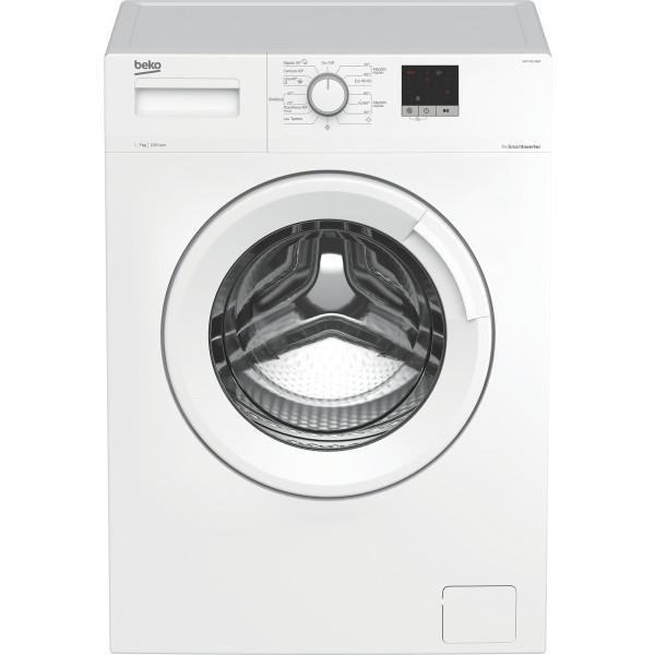 Lavadora Carga Frontal - Beko WTE 7611 BWR lavadora Independiente Carga frontal 7 kg 1200 RPM Blanco