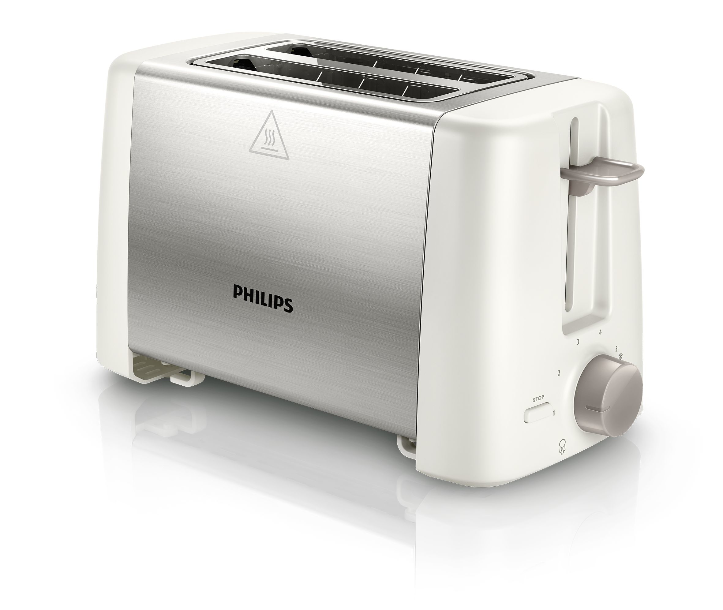 Tostadora - Philips Daily Collection HD4825/00 2slice(s) 800W Acero inoxidable, Color blanco