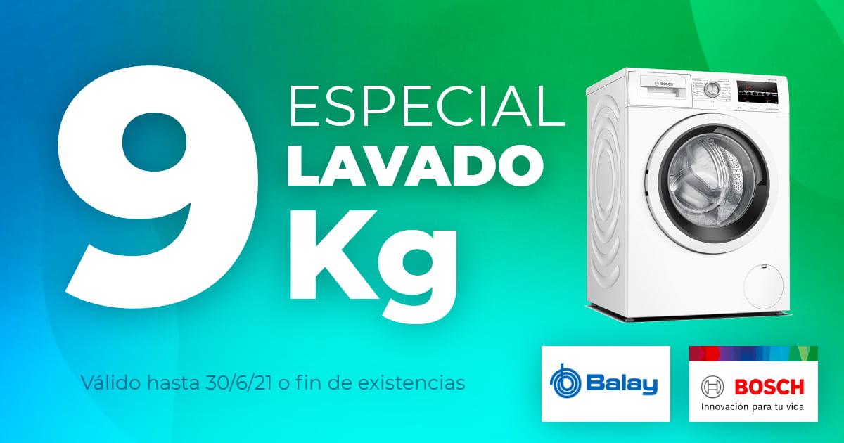 Especial Lavado 9Kg Bosch y Balay