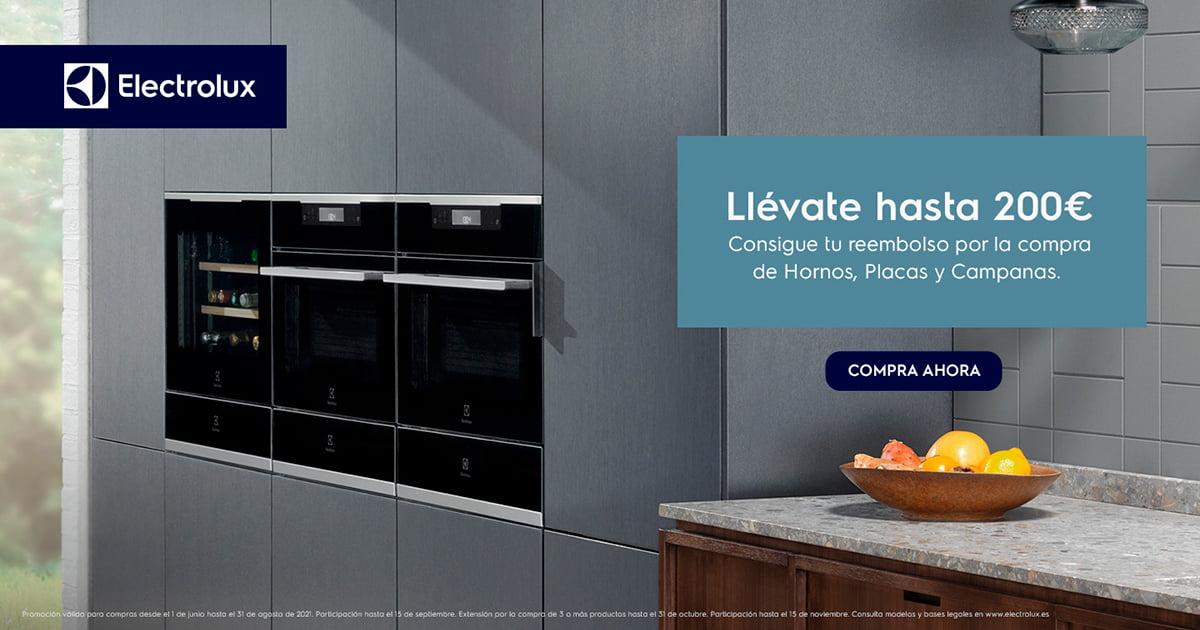 Llévate hasta 200€ con tu cocina Electrolux