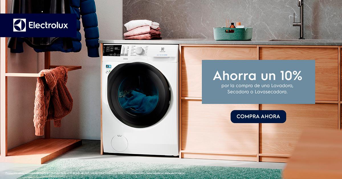 Llévate un 10% con tu lavadora Electrolux