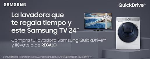 LLÉVATE UNA TV DE REGALO CON TU LAVADORA SAMSUNG QUICKDRIVE