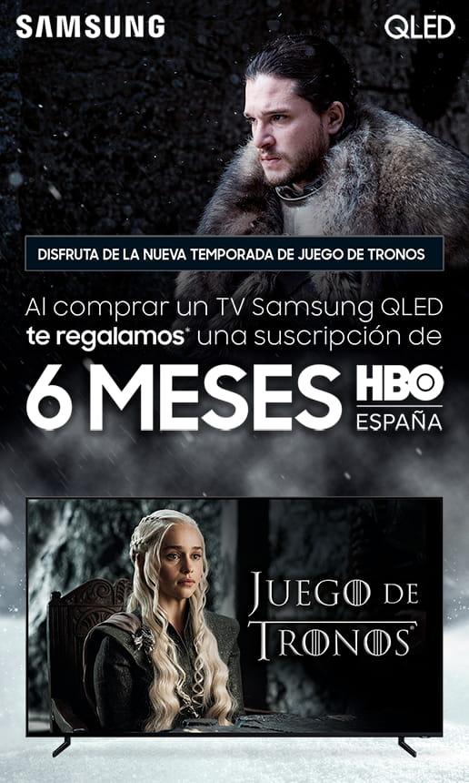 Compra una Samsung QLED y llévate 6 meses de HBO gratis