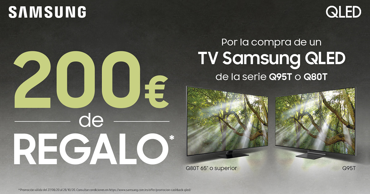 Cashback 200€ Samsung QLED 4K