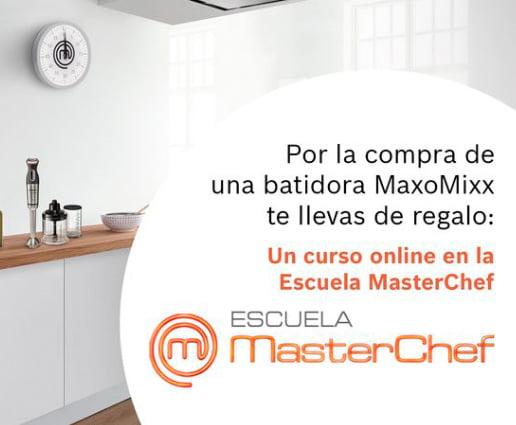Compra una batidora de mano MaxoMixx y, ¡llévate un curso de cocina online de la Escuela MasterChef!