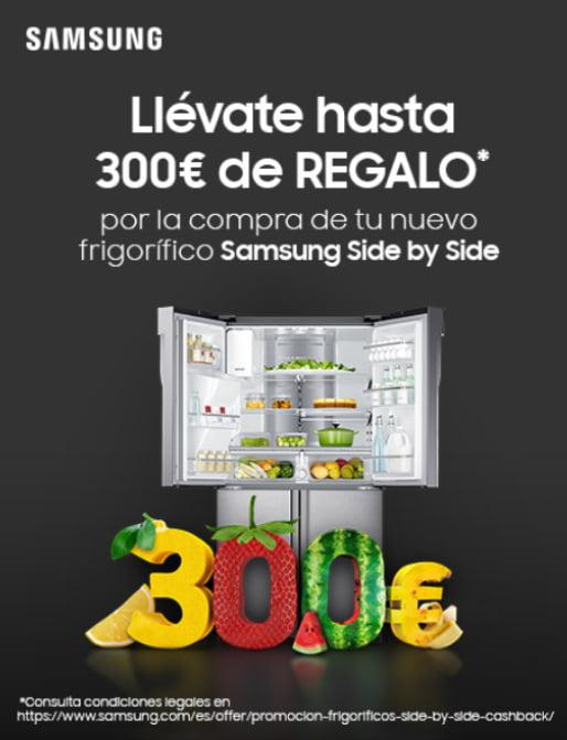 Hasta 300€ con tu Frigorífico Samsung Side-By-Side